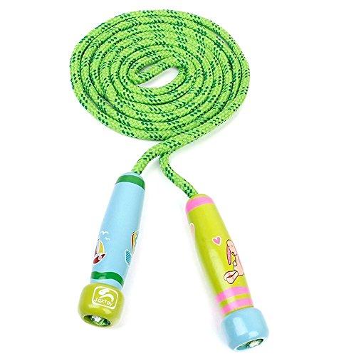 eil - jaxtoy Kinder Huepfseil Kinder einstellbar springen Seil Fitness uebung Springseil uebung Seil gruen (Kinder Springen)