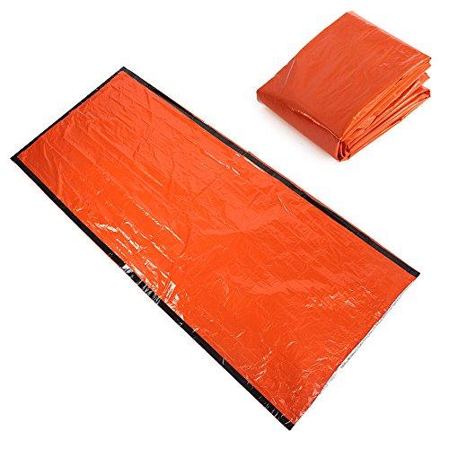 Shsyue® 213 * 91cm Couverture de Survie d'urgence Sac de Couchage Sauvetage Militaire Portable Waterproof Orange