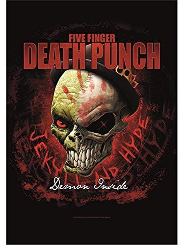 Heart Rock Licensed Flagge 5Finger Death Punch–Dapper, Stoff, Mehrfarbig, 110x 75x 0,1cm