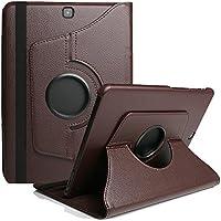 TechCode® Samsung Galaxy Tab E 9.6 T560 / T561 Tablet case PU Leder Flip 360° Desgree Tasche Case Etui SCHALE mit Standfunktion + Stylus