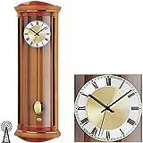 AMS 5080 relojconstellation/9 reloj de pared con péndulo de radio, estructura de madera de cerezo