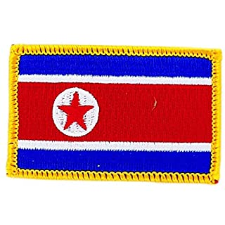 Akacha Patch North Korea Korean Flag embroidered Iron-On Patch Backpack