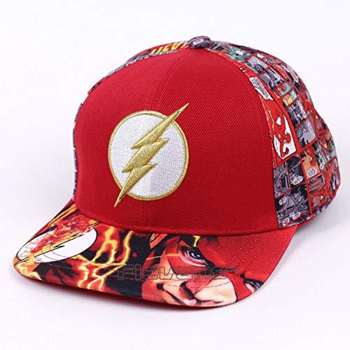 WYKDA Mode männer Frauen baseballmützen dc super Hero die Flash Snapback caps einstellbare Kappe für Jungen