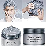 #10: Fashion Hair Styling Pomade Silver Ash Grandma Grey Hair Wax Men Temporary Disposable Hair Dye Coloring Mud Cream