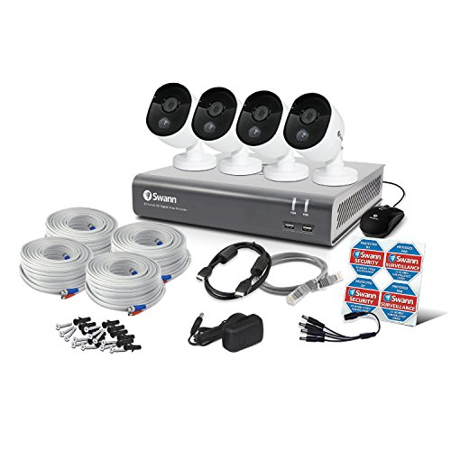 Swann Heat-Sensing 8 Channel 1TB DVR CCTV Kit 4 1080p Full HD Security Cameras on Amazon