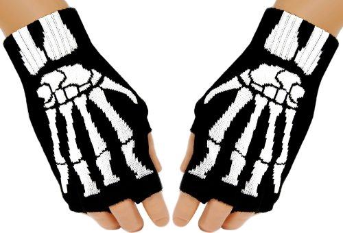 Fingerlose Skelett Handschuhe (Skelett Handschuhe Fingerlose)