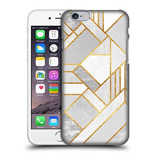 Offizielle Elisabeth Fredriksson Blaues Glas Geometrisches Designs Und Muster Ruckseite Hülle für Apple iPhone 6 / 6s Goldene Stadt