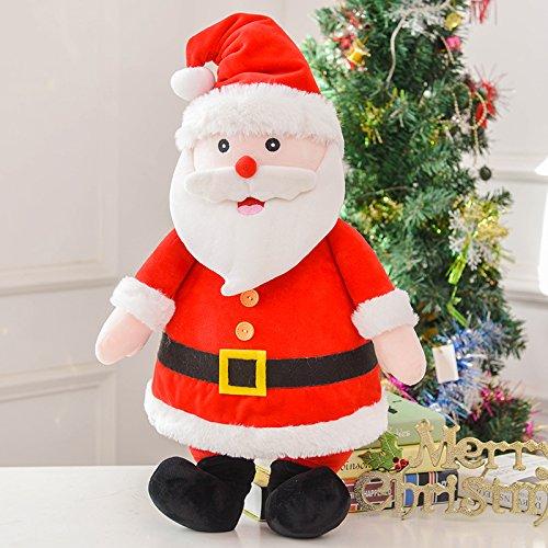 Yancyong Santa Claus Plüsch Kissen Weihnachtsgeschenk, Klassisch Rot, 40 Zentimeter