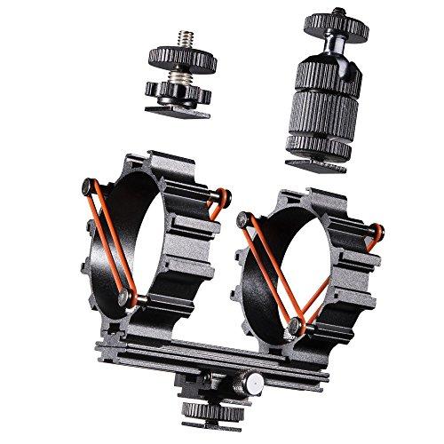 Walimex Pro Mikrofon Halterung inkl. Zubehörschienen für LED Video Leuchte
