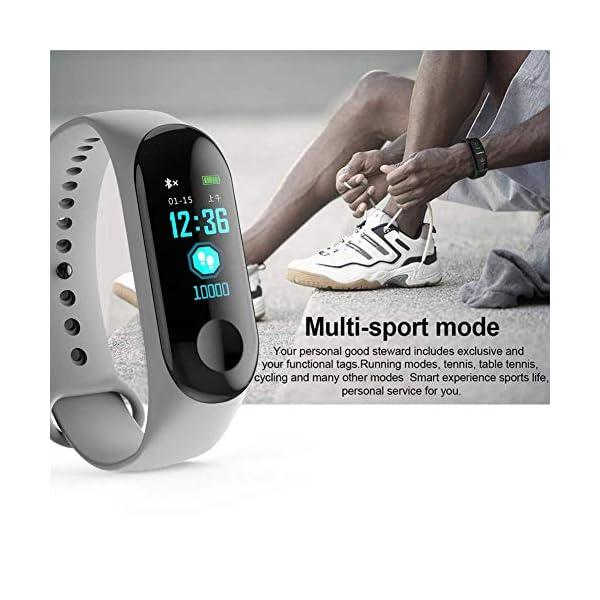 WISHDILO Pulsera de seguimiento de actividad física, monitor de ritmo cardíaco, pulsera inteligente para deportes al aire libre, podómetro impermeable con monitor de sueño para niños, damas y hombres, pulsera deportiva para contador de calorías 4