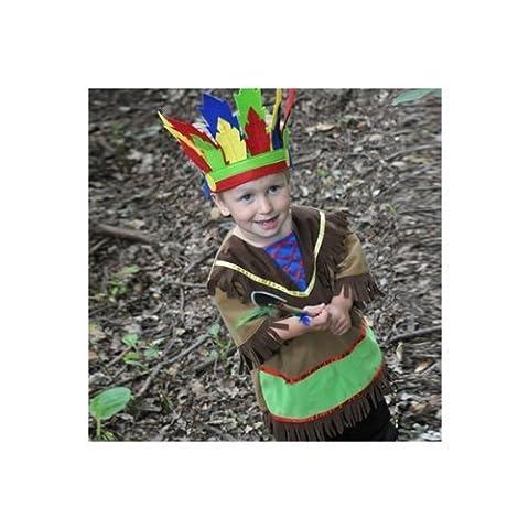 Indian Chief Accessory Set - Kids Costume 6 - 8 years by Travis (Indian Chief Kostüm Zubehör)