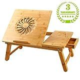 Laptoptisch NEWVANTE Verstellbarer Laptop BettTablett Tisch,Tragbare Laptop Schreibtisch Faltbare Laptop Tischständer Frühstück Sevilla Tablett Kühlung Schreiben Kipp-Tablett-einem großen Fan