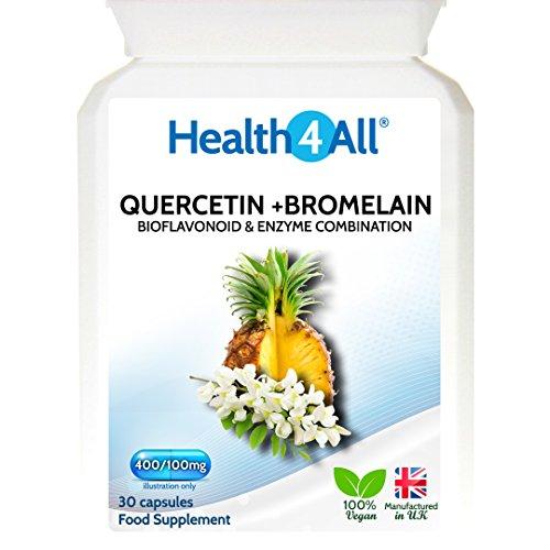 Health4All Quercetin 400mg + Bromelain 100mg 60 Capsules (V) | Natural Antihistamine Test