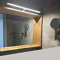 BAYTTER 8W LED Spiegelleuchte Bilderleuchte Schranklampe Wandleuchte aus Aluminum silber, warmweiß IP44, Badezimmerlampe Badlampe Spiegel Wand Schminklicht