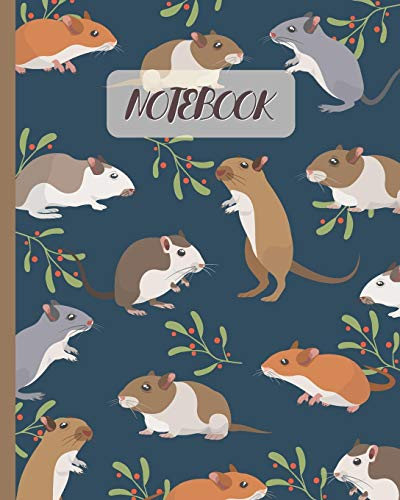 Notebook: Cute Gerbils Cartoon Cover (Volume 3) - Lined Notebook, Diary, Track, Log & Journal - Gift for Boys Girls Teens Men Women (8