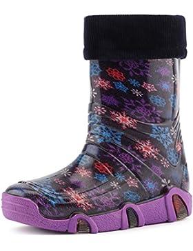 Ladeheid Botas de Agua Zapatos de Seguridad Calzado Unisex Niño WOD