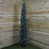 200CM Ambasciatore Albero di Natale floccato Pencil Pine Slim Albero di 200 x 56 centimetri