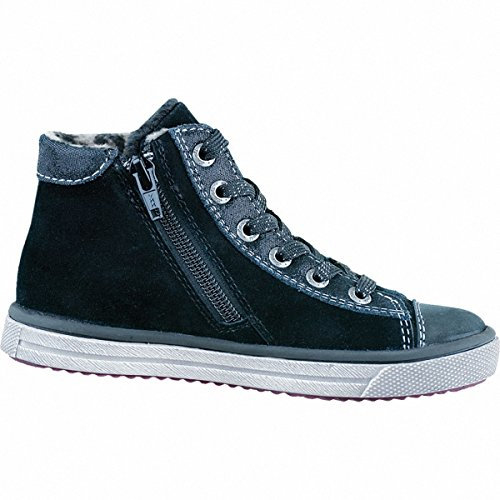 Lurchi Swing-Tex Mädchen Hohe Sneakers Schwarz
