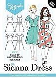 Damen einfach Sew Schnittmuster das Sienna Kleid Skater Mini Short Sleeve Ärmellos Abenteuerliche Anfänger Größen 6–20