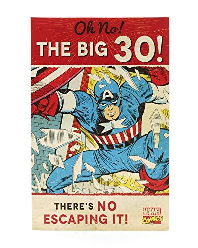 Hanson weiß 345823-0Marvel Avengers Captain America 30. Geburtstag Karte