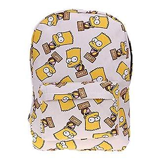 BHCW Mochilas Escolares,Mochila Juveniles Resistente al Agua Mochila Ligera y Moderna Estilo clásico Mochila versátil para Bolso Hombro Ergonómico Mochila Infantil The Simpsons