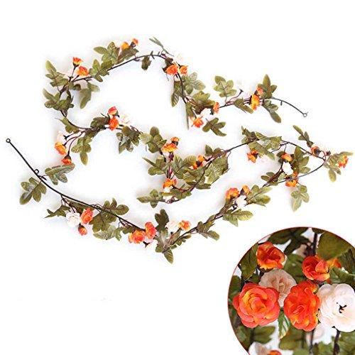 fish Künstliche Rose Blumen-Rebe für Heim Garland Hochzeit Garten Dekoration