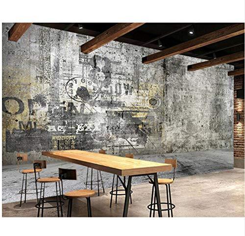 Home Decor Industriale Vento Nostalgico Lettera Di Cemento 3D Carta Da Parati Per Pareti Della Camera Da Letto Adesivi Murali Fai Da Te Panno Di Seta-(W)400x(H)280cm
