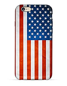 USA flag clear iPhone 6 case