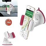 Handy / Smartphone halterung | für ALDI Medion Life E4506 | Auto halter | Büro Halter | Multifunktional | AUT-Pink