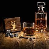 Chamald & Co Pierres à Whisky en Steatite - Set de 9 Cubes de Glacons...