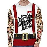 Ugly Christmas Sweater Herren UFODB Pullover Winterpullover Weihnachtspullover Kapuzenpullover Männer Weihnachten T-Shirts Sweatshirt Langarmshirt Hemd Tops