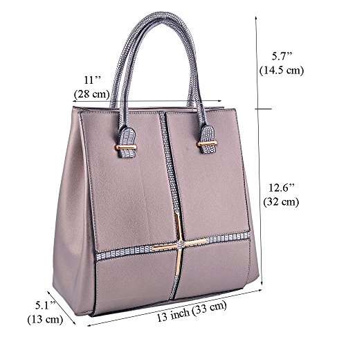 LeahWard® Übergröße Patent Schulter Taschen Damen Mode Essener Qualität Modisch Tote Handtaschen CWS00380 (OXFORD blau Tragetasche) Schwarz Tragetasche