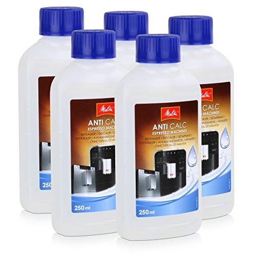 5x Melitta Anti Calc Flüssigentkalker Espresso Machines 250ml