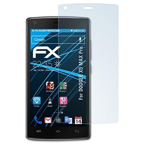atFolix Schutzfolie kompatibel mit DOOGEE X5 MAX Pro Folie, ultraklare FX Bildschirmschutzfolie (3X)