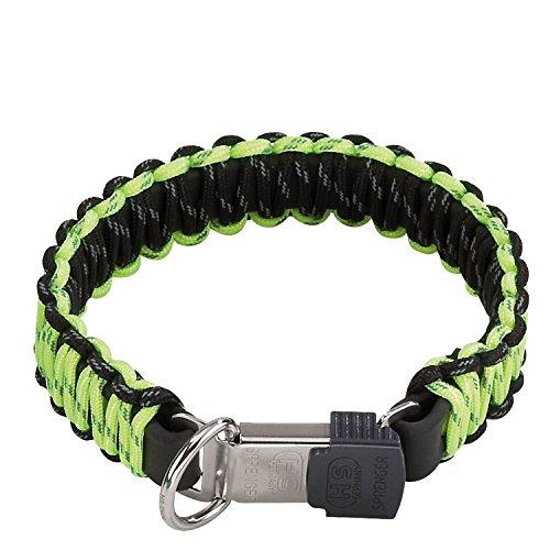 HS Sprenger Lock-Verschluss Paracord Hundehalsband (45cm) (Gelb) -