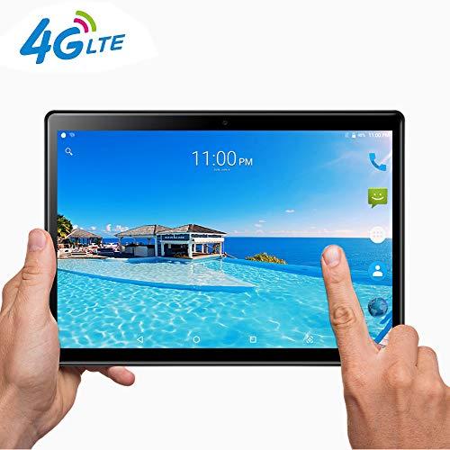 Tablet 10 Pollici con Wifi Offerte|Fire HD 10.1' 3G 4G LTE Android 7.0 4GB RAM,64GB ROM,Doppia SIM,Deca-Core,GPS,OTG,1920X1200 IPS,nero