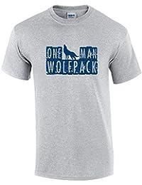 One Man Wolfpack Hoodie - Grey - Medium