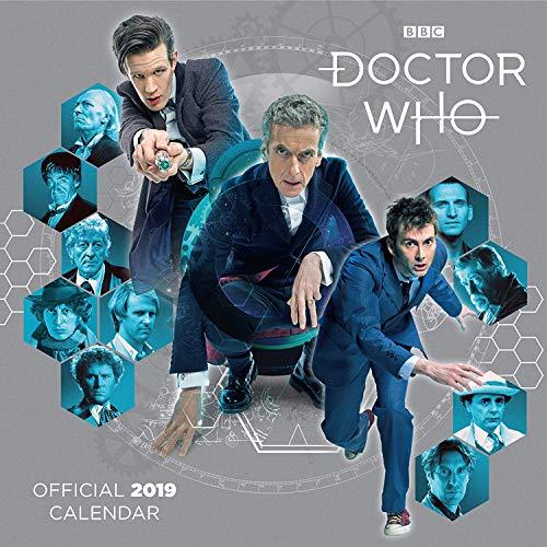 Doctor Who Classic 12mese calendario da parete 2019calendario ufficiale quadrato con organizzatore adesivi Bundle, Great gift.