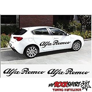 2x Alfa Romeo 120cm Aufkleber Tuning Scheibe Lack TYP-MRS97 `+ Bonus Testaufkleber