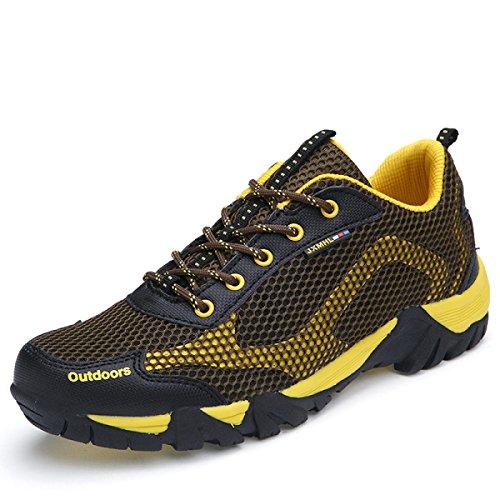 Mme CHT Printemps Et D'automne Amateurs De Plein Air Chaussures De Randonnée Yellow