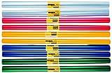 10 Rollen Bucheinbandfolie / Buchfolie / 2m x 40cm / 5 verschiedene Farben