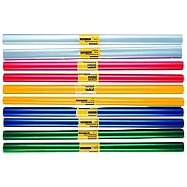 10rotoli di pellicola per rivestimento libri libro/schermo/2m x 40cm/5colori assortiti