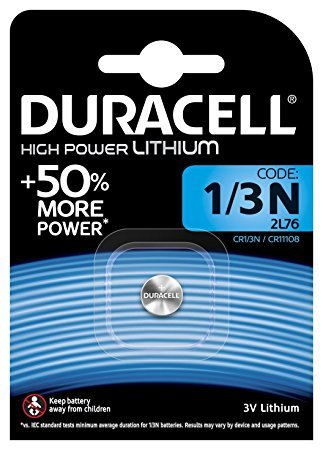 Duracell CR11108 DL1/3N Photo Lithium Batterie CR1/2L76 Silber 1 Batterie 3v