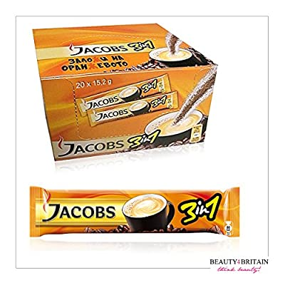 JACOBS 3in1 INSTANT COFFEE 60 STICKS SINGLE SERVINGS FRESH STOCK WHOLESALE UK from JACOBS