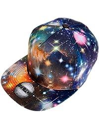 ZLYC New Starry Galaxy Sky Neon Pattern Flatbill Snapback Adjust Baseball  Hat 95e584b6a765