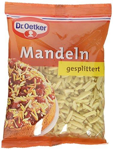 Preisvergleich Produktbild Dr. Oetker Mandeln gesplittert,  5er Pack (5 x 100 g)