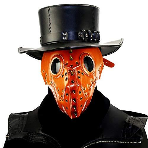 Halloween PU Maske - Steampunk Domineering Pest Arzt Maske PU Leder Gothic Masquerade Maske Cosplay Requisiten