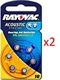 Rayovac Batterien 1,45 V 6-teilig (Set) Akkus von Geräten auditifs-acoustic Special 675/312/13/10-extra Advanced 10/13/312/675-extra Mercury Free 10/13/312/675 – 6er & in Blisterverpackung - 2x Nr. 10 Acoustic Special 6er Blister
