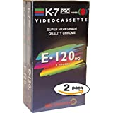 VHS vierge K7 Video Cassette 120 min Haute Qualité Quality Chrome (x 2) MADE IN EUROPE