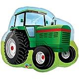 Farm Tractor Shaped Jumbo Foil Balloon (Green, 1) by Qualatex